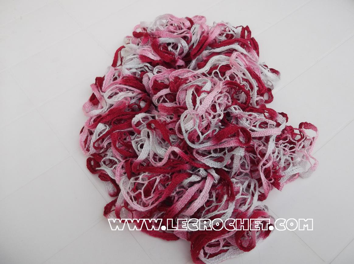 echarpe froufrou rose et fuschia