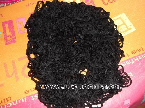 écharpe froufrou noire