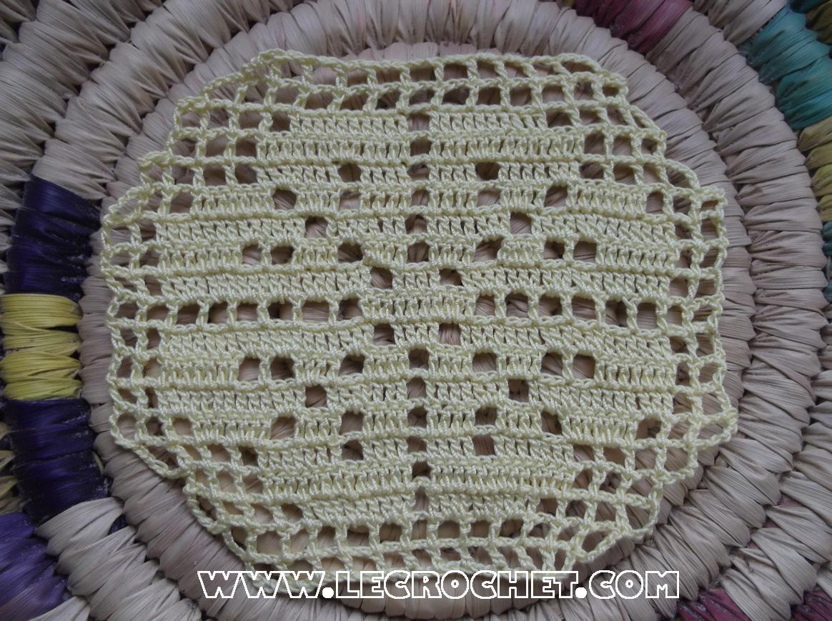 fleur au crochet technique du filet