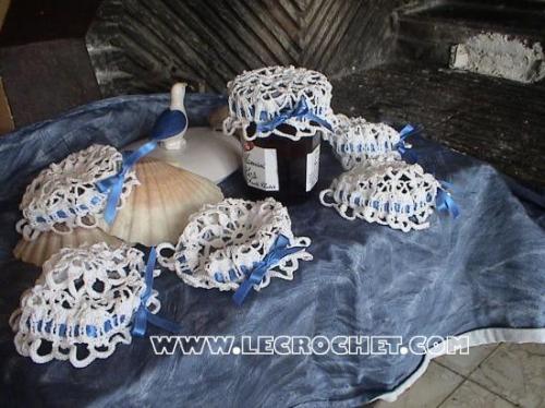 chapeau pour pots de confiture