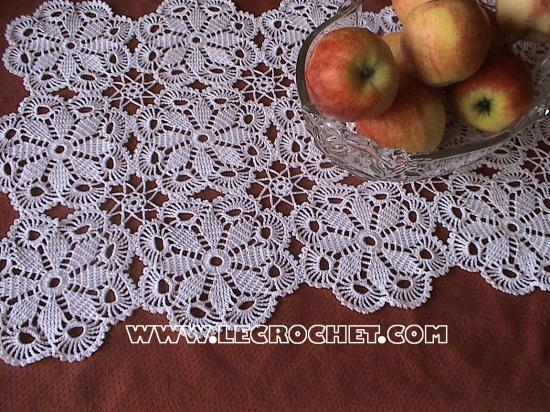napperon rectangulaire au crochet
