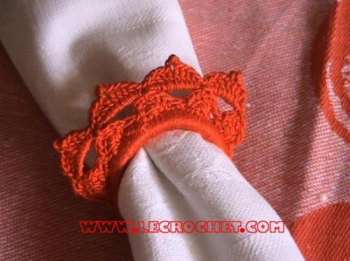 Ronds de serviette au crochet