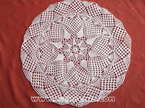 crochet napperon blanc