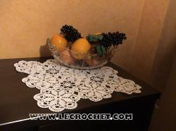 tapis de table en crochet