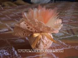 aumoniere au crochet orange