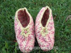 chausson adulte au crochet