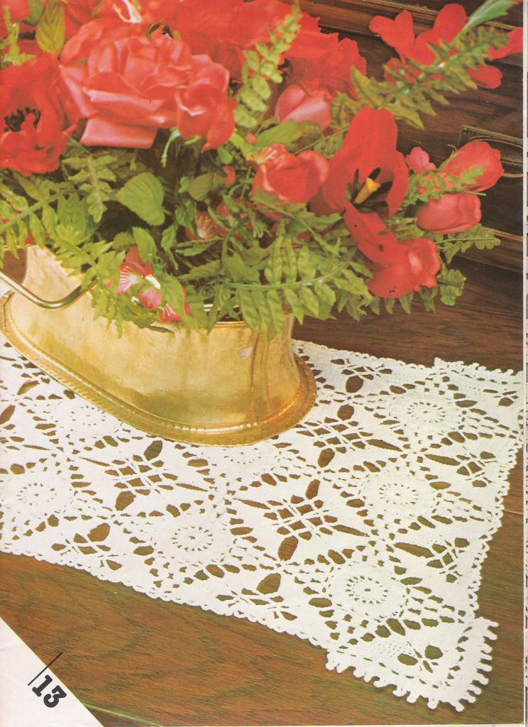 Le crochet tarif chemin de table - Modele tapis crochet gratuit ...