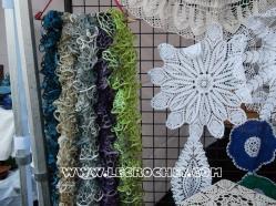 Echarpes en laine et napperons au crochet