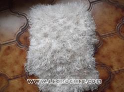 echarpe en laine à poils écru