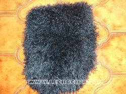 echarpe en laine à poils bleue marine