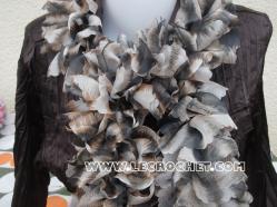 Echarpe en laine papillon