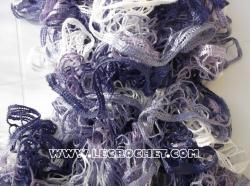 echarpe froufrou chinée violette