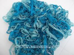 echarpe à volant bleue turquoise