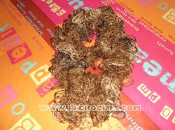 Echarpe froufrou chinée marron