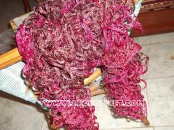 Echarpe froufrou bordeau-rose