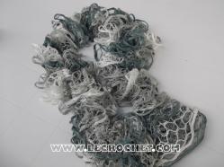 echarpe froufrou chinée grise