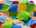 carrés granny au crochet