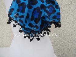 Foulard avec une bordure au crochet
