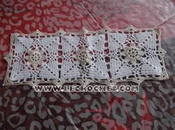 napperon rectangulaire au crochet