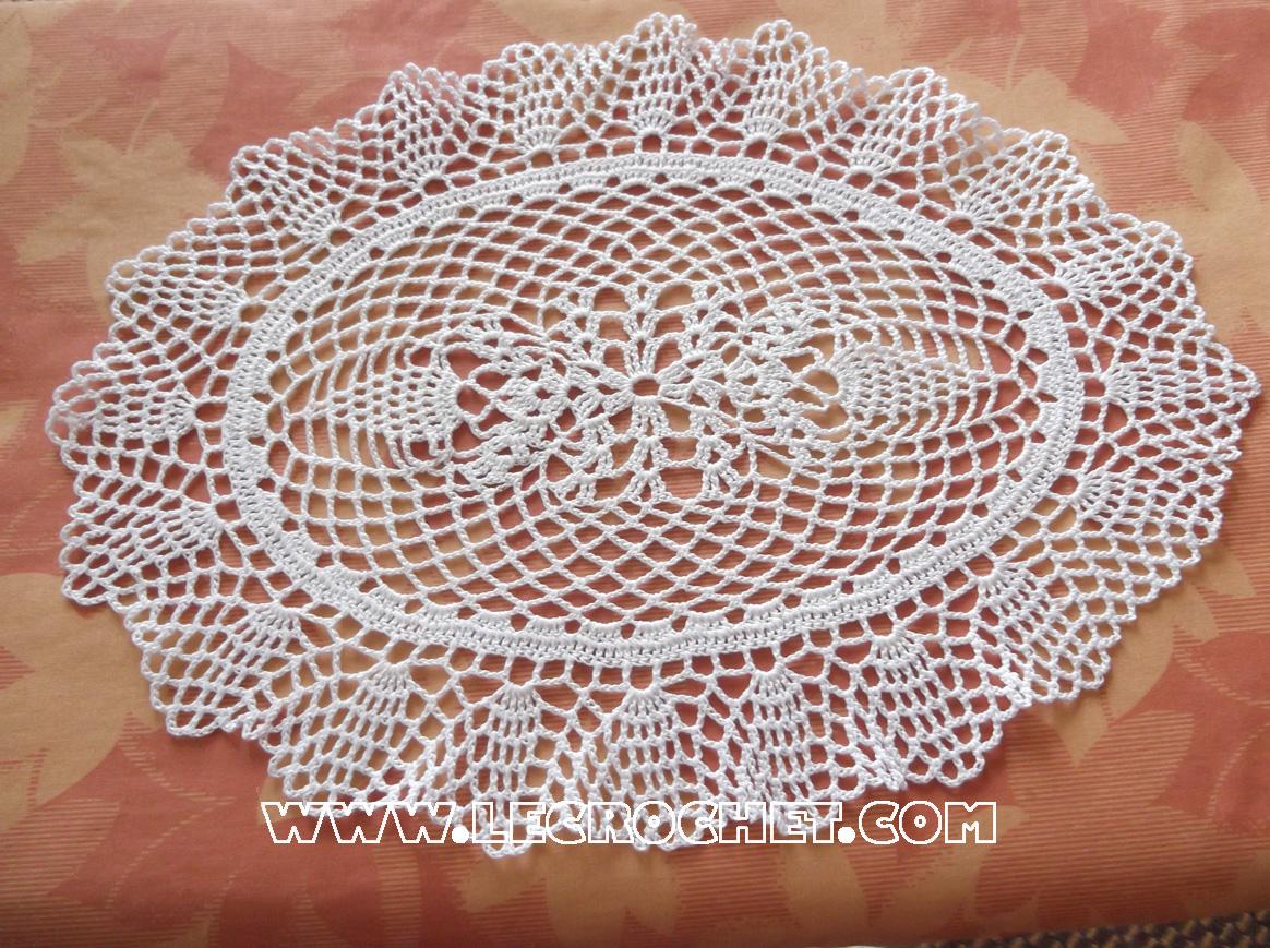 Napperon ovale napperon au crochet le crochet napperon crochet - Ouvrages au crochet avec explication ...