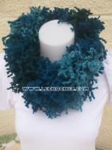 Snood femme bleu