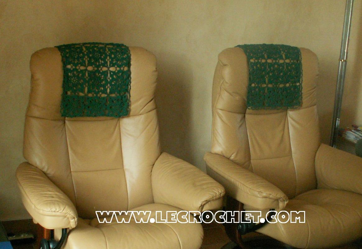 accoudoir t ti re au crochet housse de chaise au crochet accoudoirs au crochet. Black Bedroom Furniture Sets. Home Design Ideas
