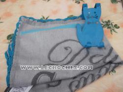 Torchon customisé avec une bordure au crochet
